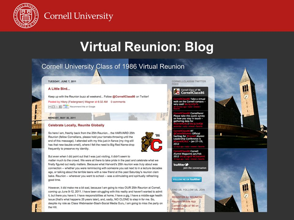 Virtual Reunion: Blog