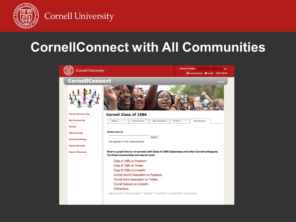 CornellConnect with All Communities