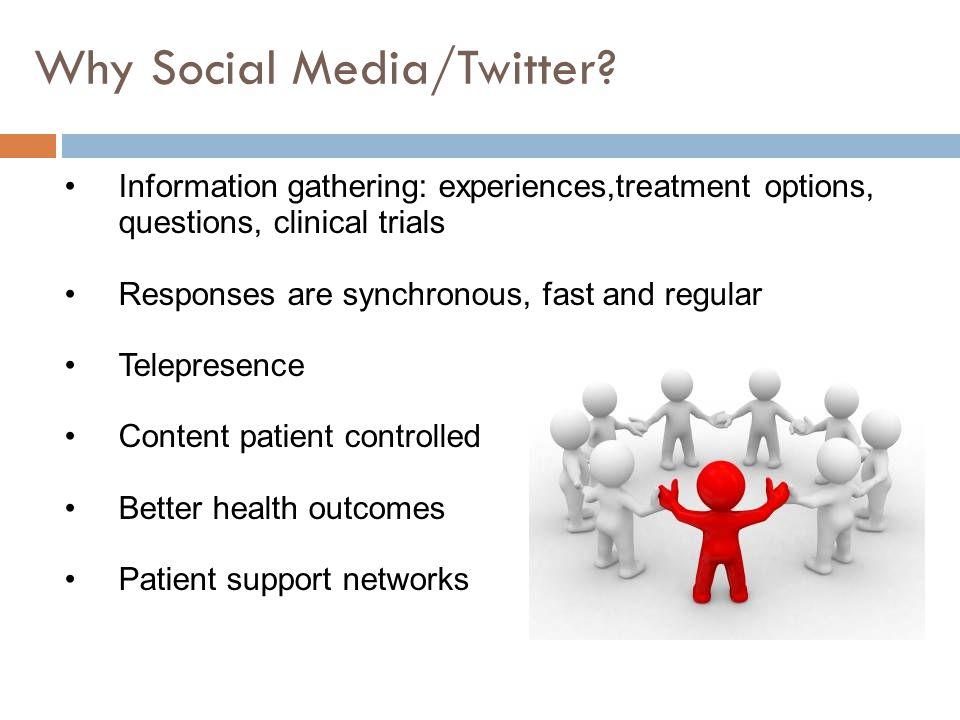 Why Social Media/Twitter.
