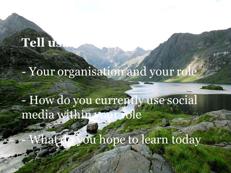 Tell us...