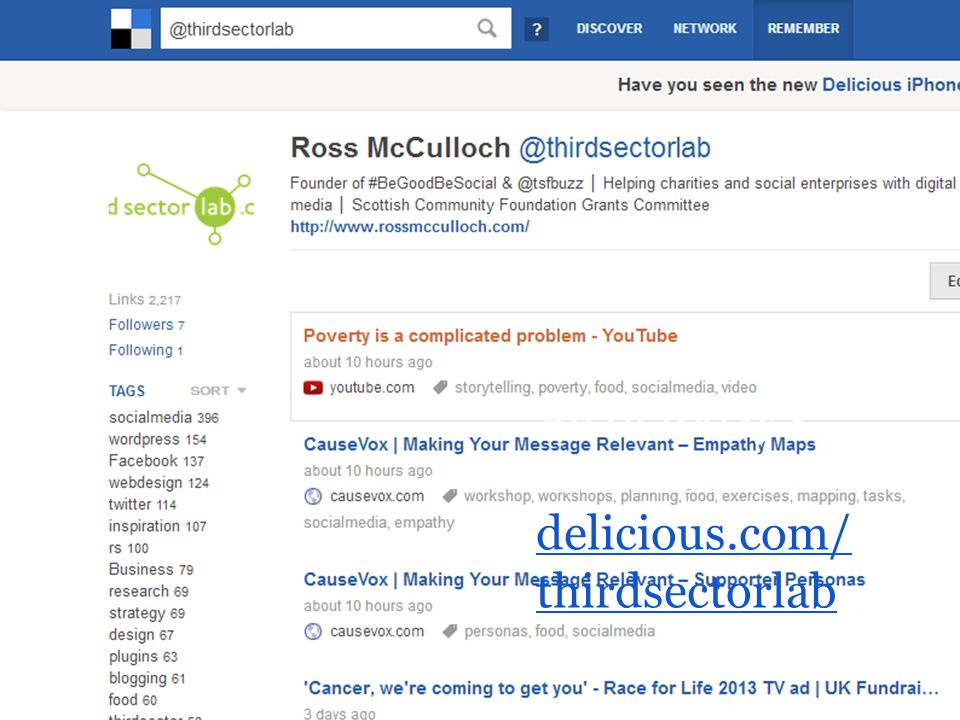 All of today's resources: delicious.com/ thirdsectorlab delicious.com/ thirdsectorlab
