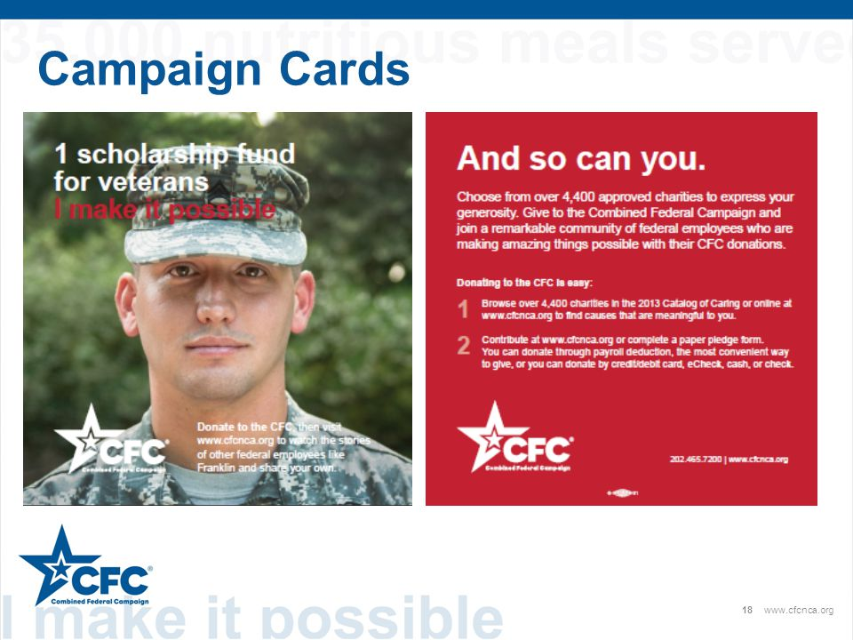 18www.cfcnca.org Campaign Cards