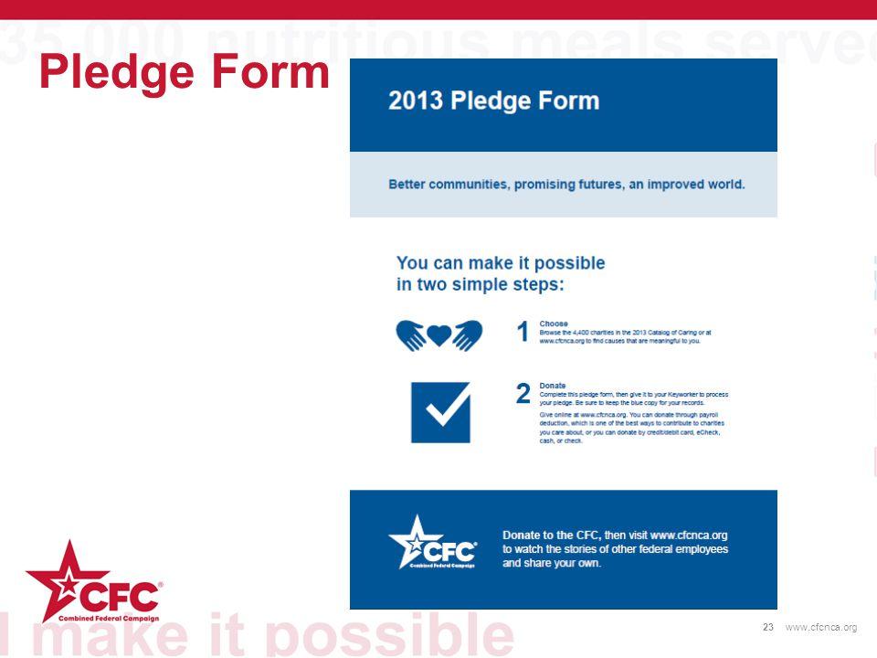 Pledge Form 23www.cfcnca.org