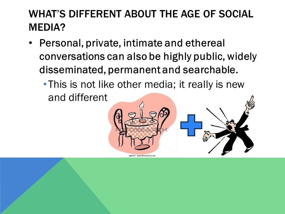 WHAT'S DIFFERENT ABOUT THE AGE OF SOCIAL MEDIA.