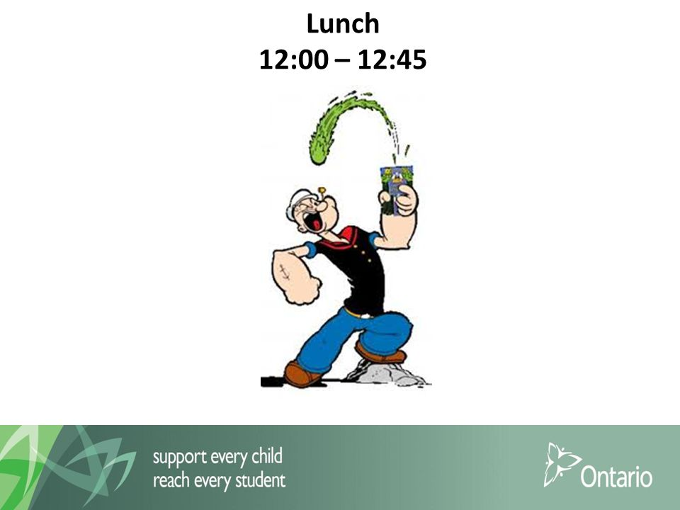 Lunch 12:00 – 12:45