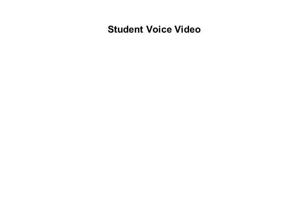 Student Voice Video