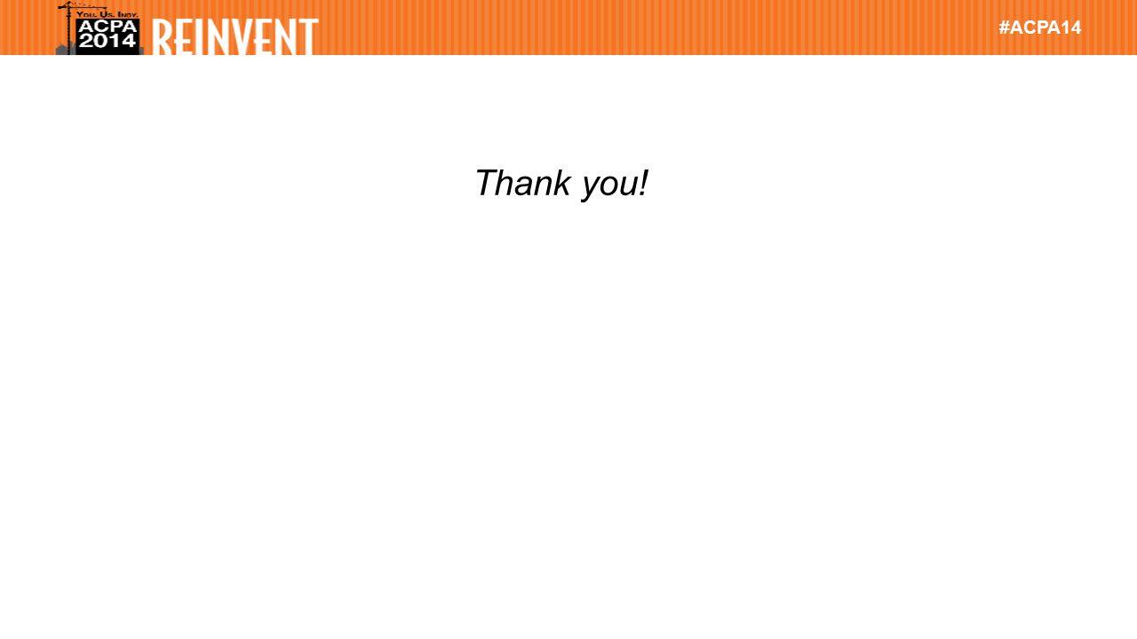 #ACPA14 Thank you!