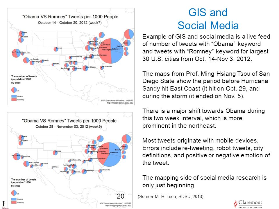 University of Redlands, School of Business GIS and Social Media (Source: M.-H.