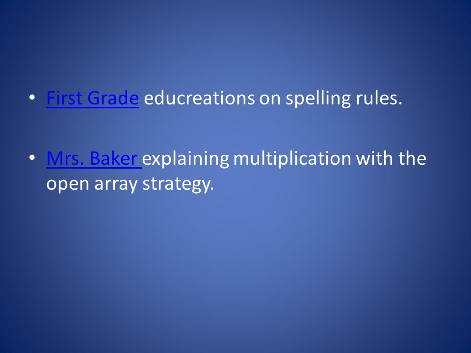 First Grade educreations on spelling rules. First Grade Mrs.