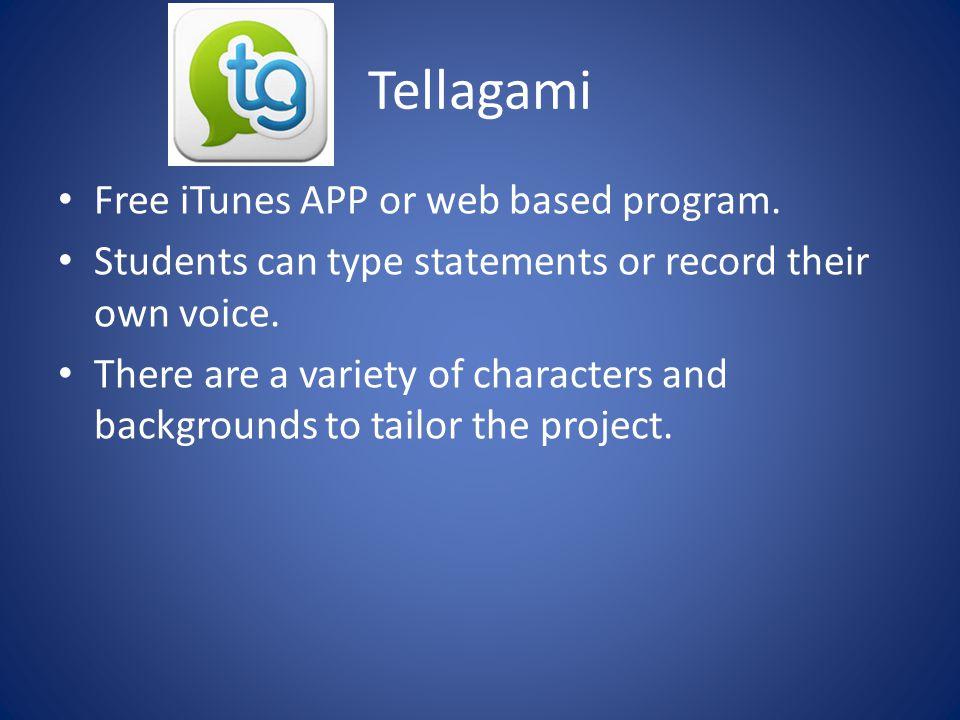 Tellagami Free iTunes APP or web based program.