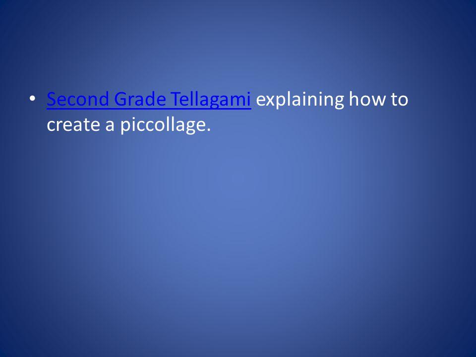 Second Grade Tellagami explaining how to create a piccollage. Second Grade Tellagami
