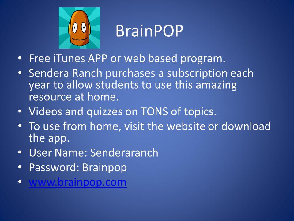BrainPOP Free iTunes APP or web based program.