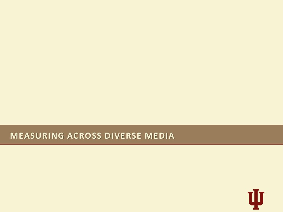 MEASURING ACROSS DIVERSE MEDIA