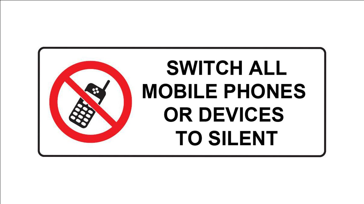 Please make sure your mobile phone is switched off during all conference sessions