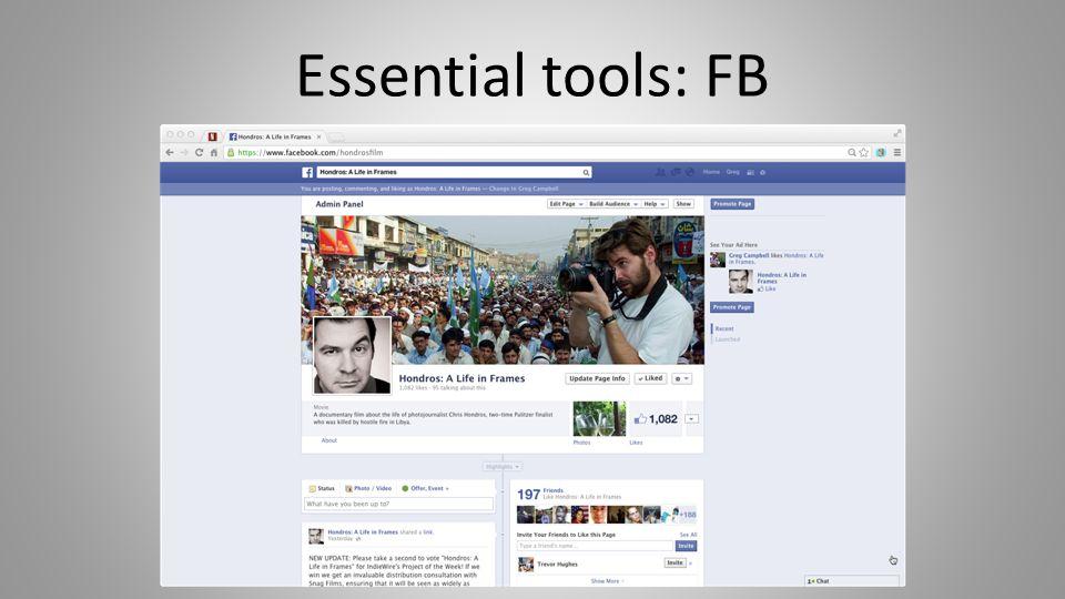Essential tools: FB