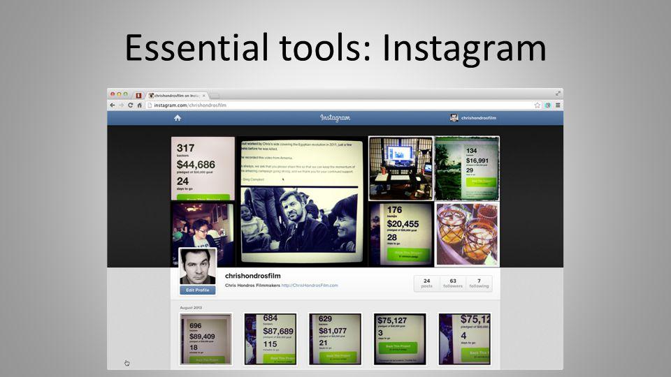 Essential tools: Instagram