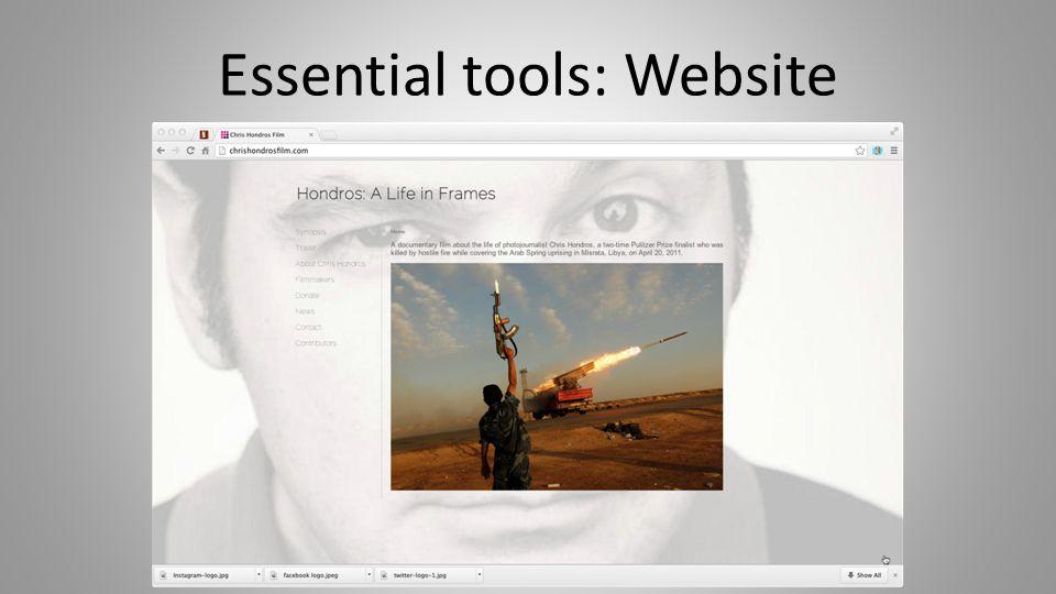 Essential tools: Website