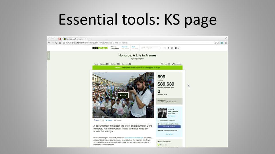 Essential tools: KS page