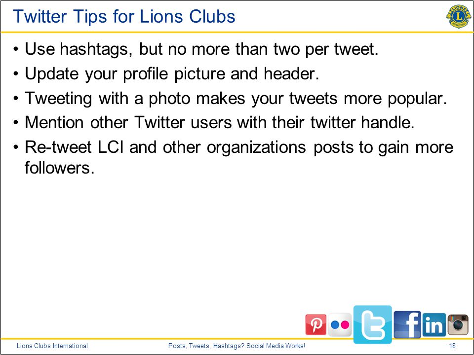 18Lions Clubs InternationalPosts, Tweets, Hashtags.