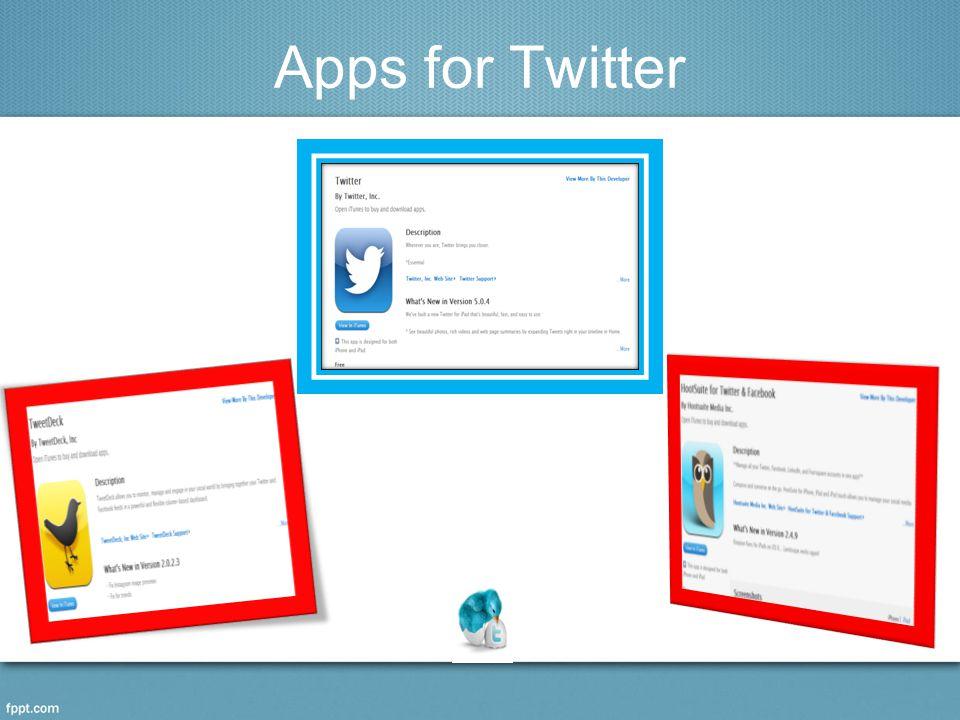 Apps for Twitter