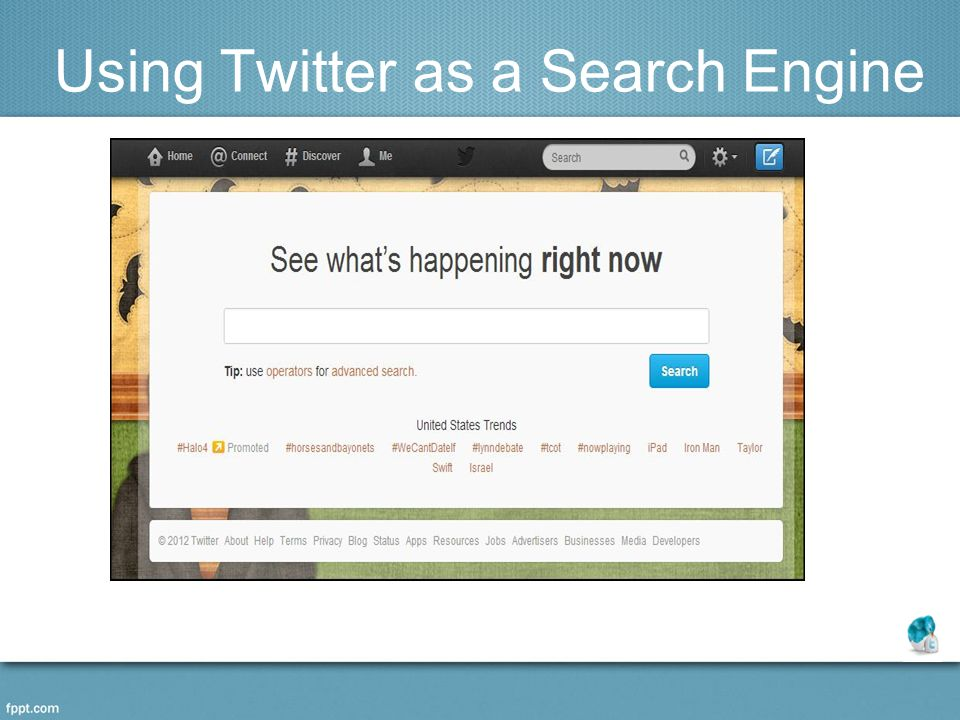 Using Twitter as a Search Engine