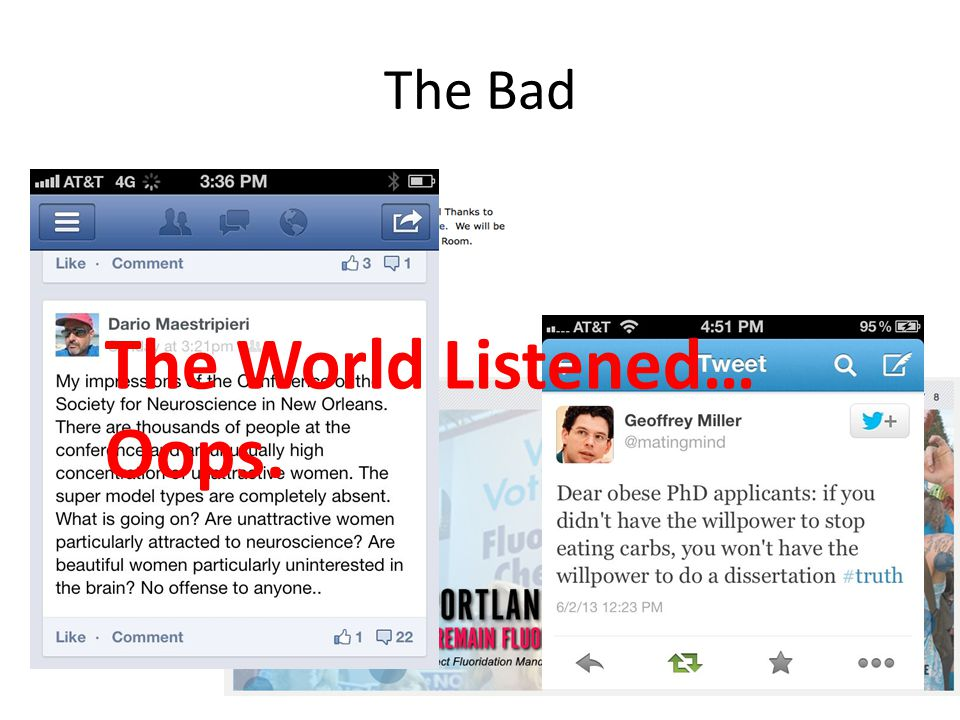 The Bad The World Listened… Oops.