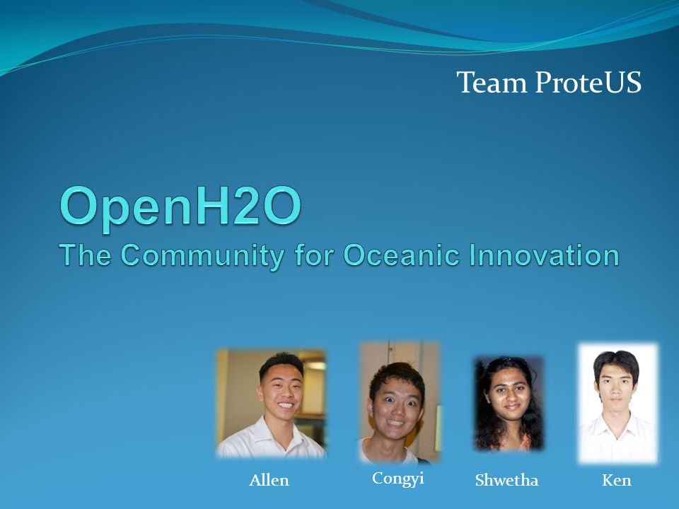 OpenH2O Mission Statement We believe technology will change the world We enable our community to produce solutions for oceanic development We create innovative products such as Protei, an open source sailing drone, designed to clean oil spills