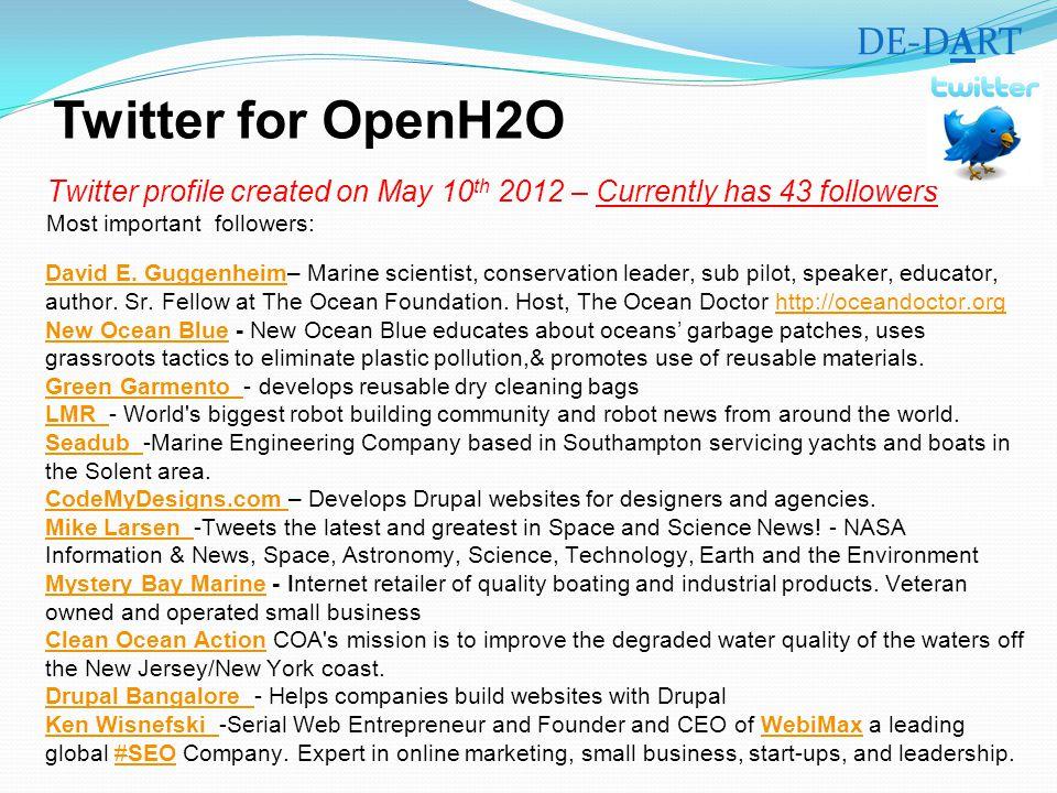 Twitter for OpenH2O David E. GuggenheimDavid E.