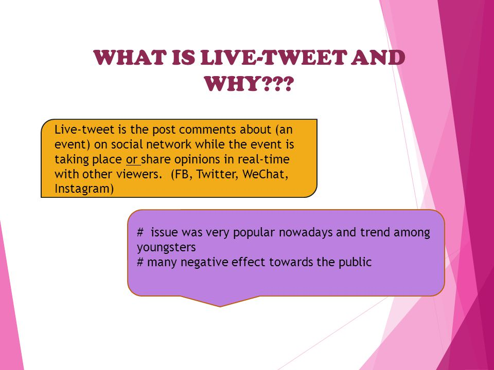 WHAT IS LIVE-TWEET AND WHY .