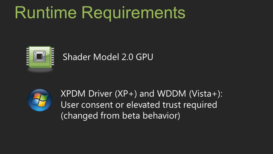 Runtime Requirements