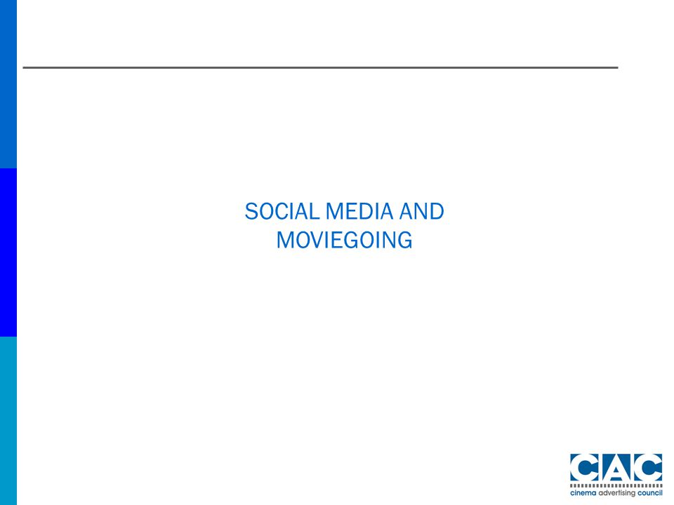 SOCIAL MEDIA AND MOVIEGOING
