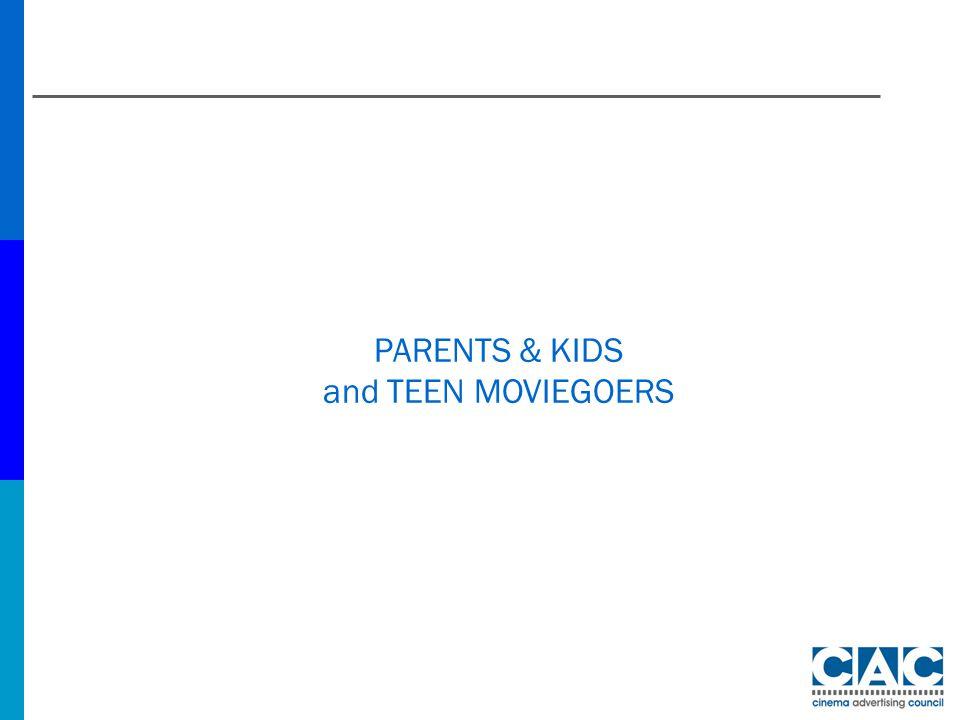 PARENTS & KIDS and TEEN MOVIEGOERS