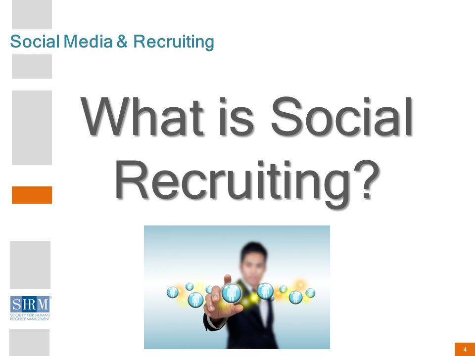 4 Social Media & Recruiting What is Social Recruiting