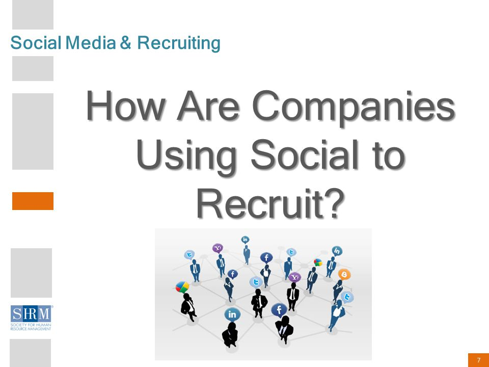 7 Social Media & Recruiting How Are Companies Using Social to Recruit?