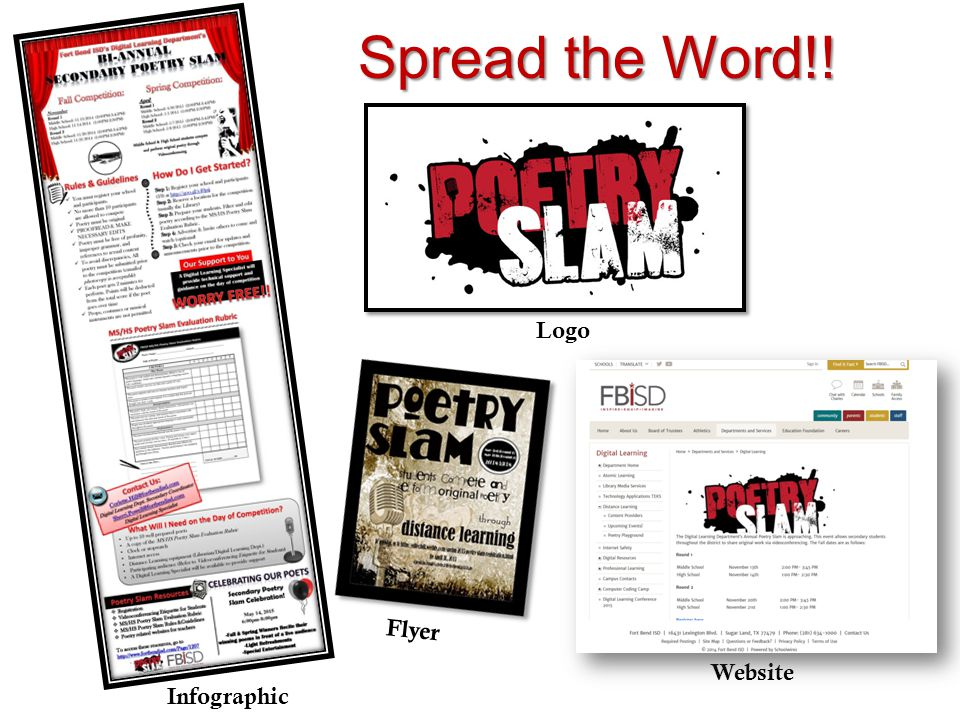 Spread the Word!! Infographic Logo Website Flyer