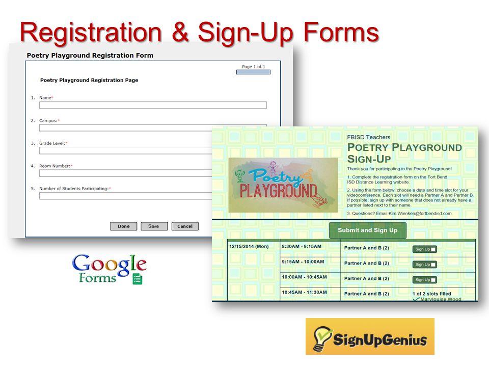 Registration & Sign-Up Forms