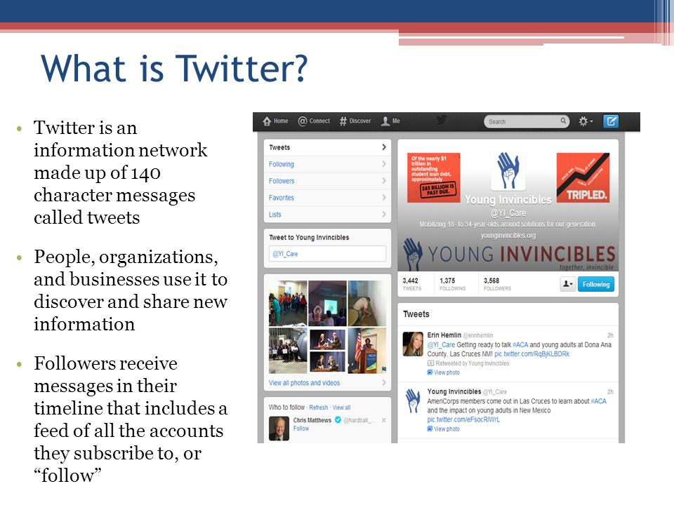 Agenda What is Twitter Who uses Twitter Outreach methods