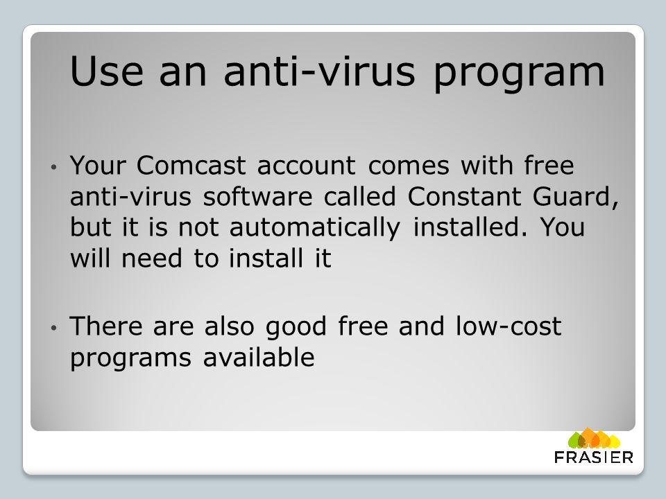 Free Anti-virus software: AVG Free Avast Bitdefender