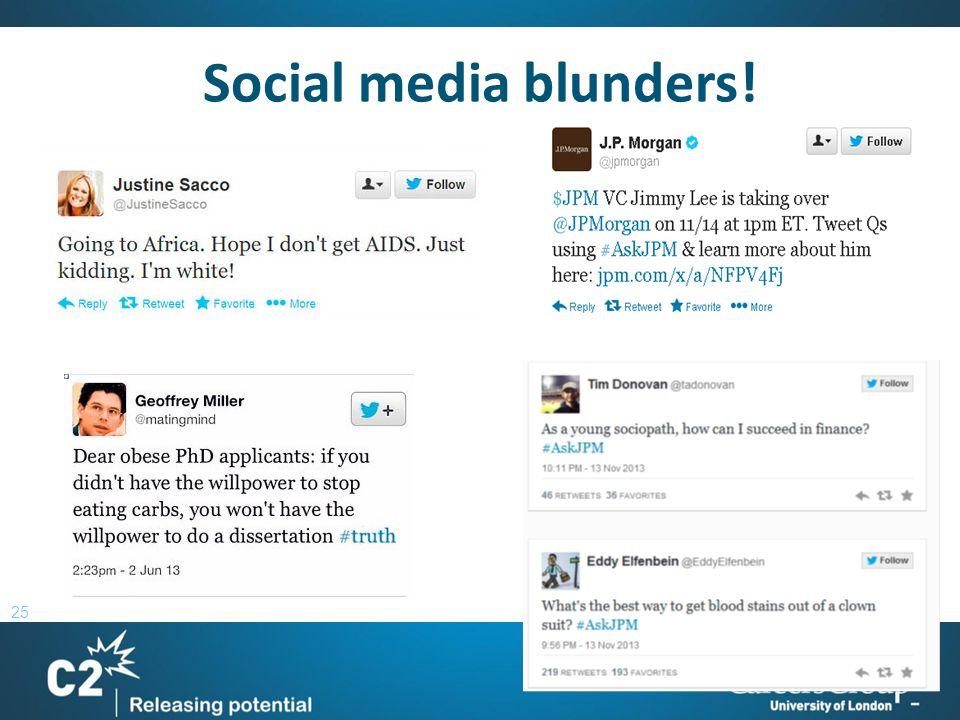 25 Social media blunders!