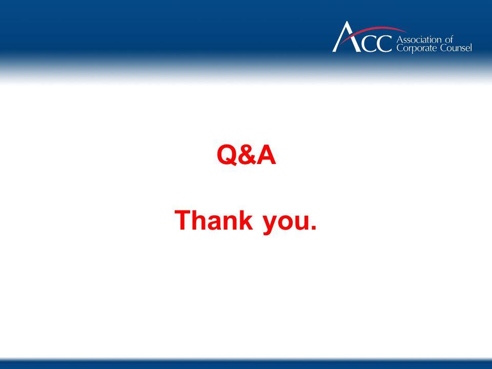 Q&A Thank you.