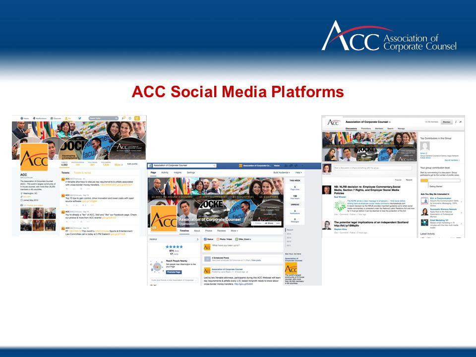 ACC Social Media Platforms