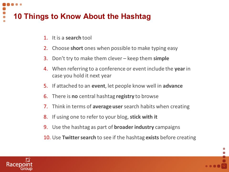 10 Things to Know About the Hashtag 12