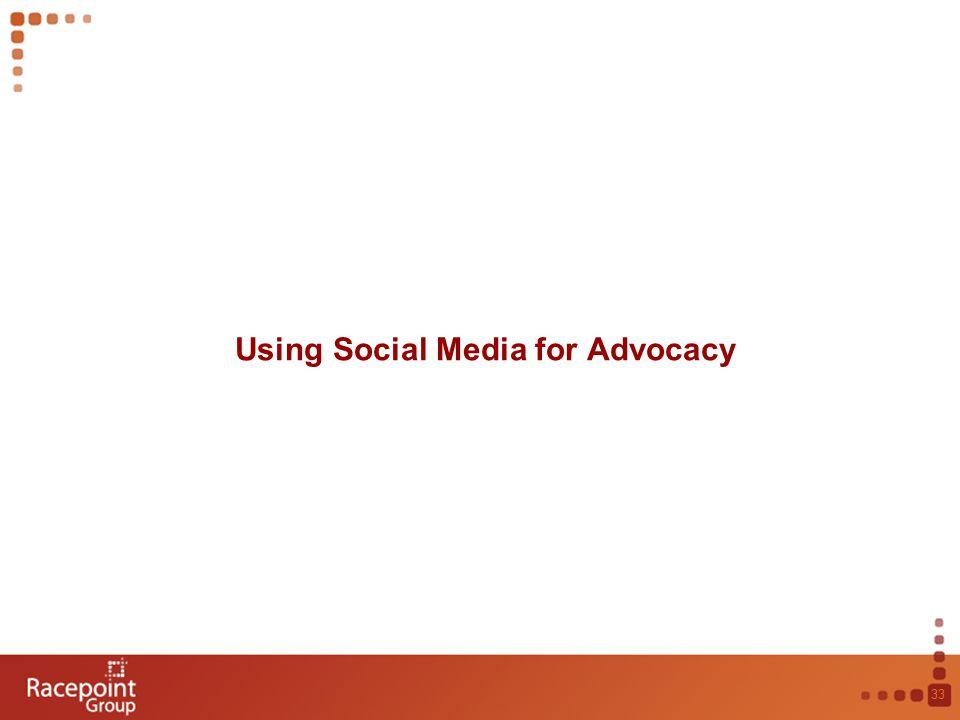 Using Social Media for Advocacy 33