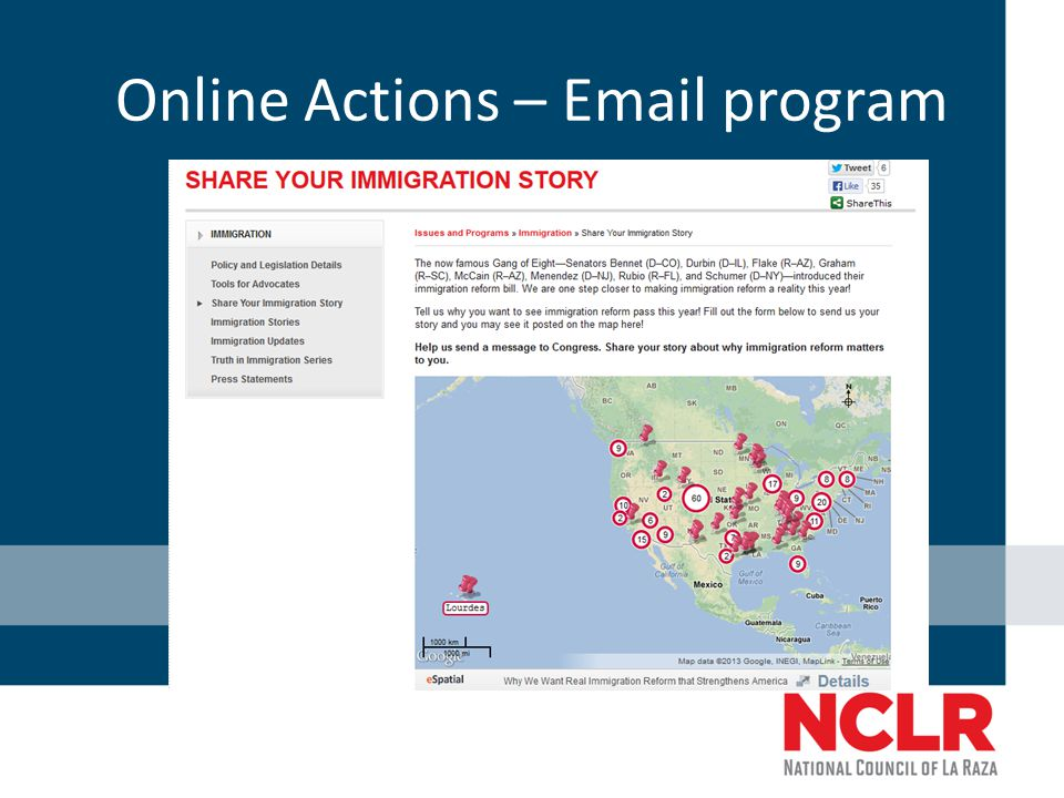 Online Actions – Email program