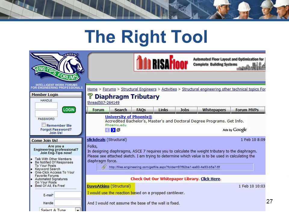 www.csinet.org The Right Tool 27