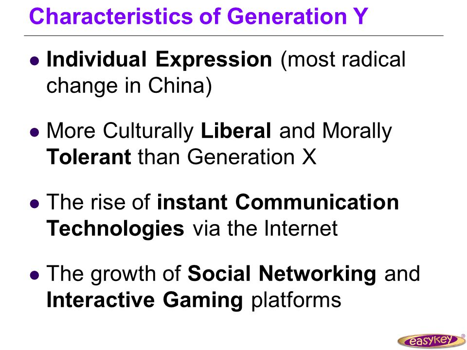 Generation Y Echo Boomer Millennial Born 1982-95 (15 to 28 years) what is Generation