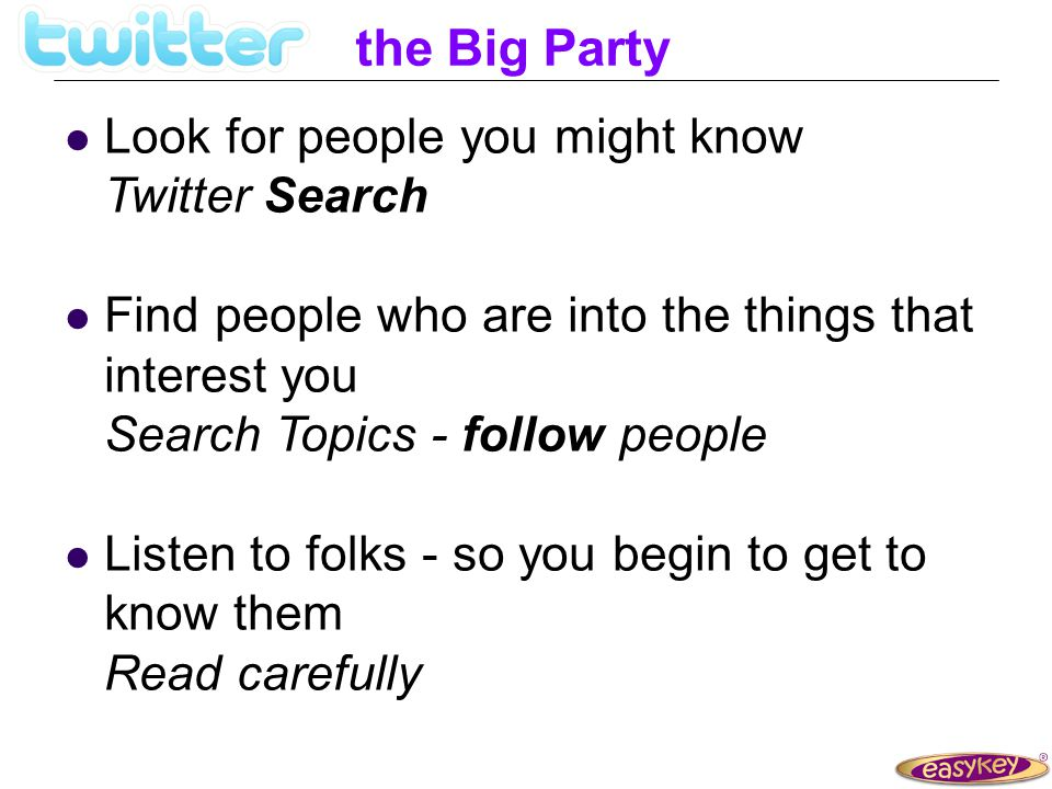 the Big Party What would you do