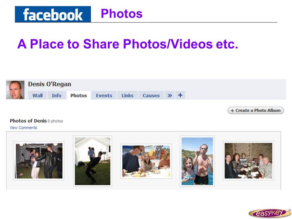 Photos A Place to Share Photos/Videos etc.
