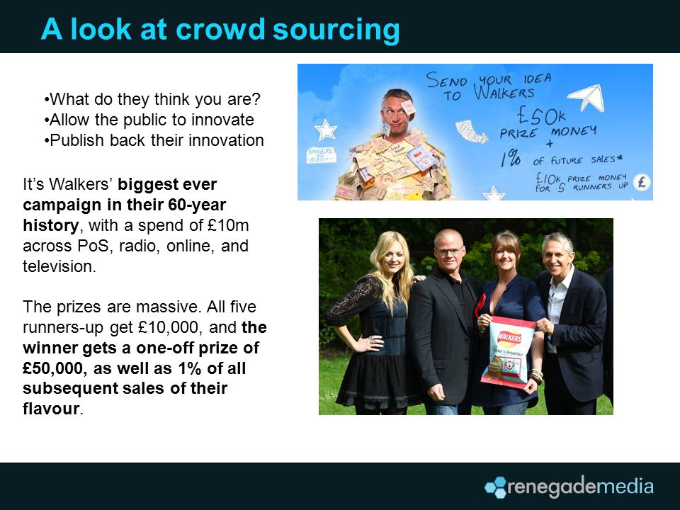 A look at crowd sourcing What do they think you are.