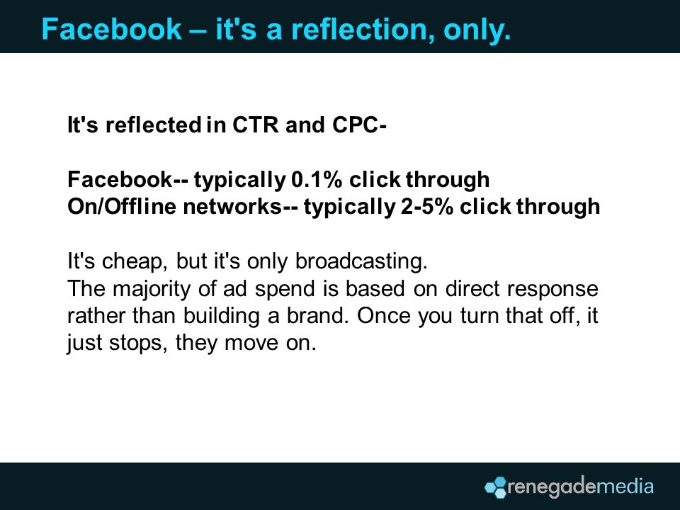 Facebook – it s a reflection, only.